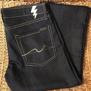 NWT 7 For All Mankind Dark Blue Jeans